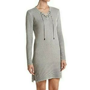 LAST ONE! Philosophy Lace Front Sweater Dress Gray